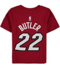 jordan miami heat youth statement name & number t-shirt - jimmy butler