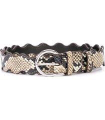 loeffler randall blythe snake print belt - brown