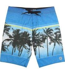 bermuda boardshort wss waves tropical blue 20 - kanui