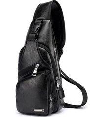 mochila bolso maleta hombre cruzada pequeña 13032 negro