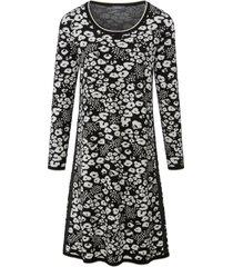gebreide jurk met lange mouwen en ronde hals van basler multicolour