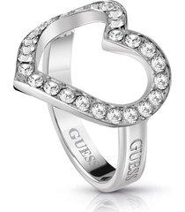 anillo guess shine on meubr28000 54 plateado