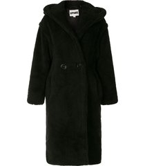 apparis mia faux-fur hooded coat - black