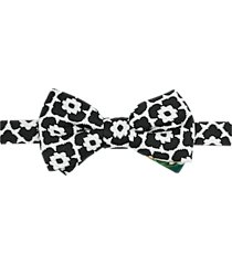 paisley & gray pre-tied bow tie black & white floral