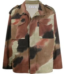 camouflage overhemdjack met pijlmotief