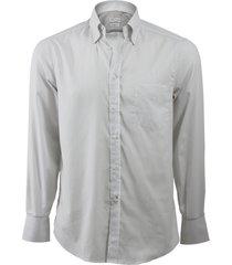 stripe spread collar shirt