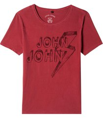camiseta john john pencil masculina (red dahlia, gg)