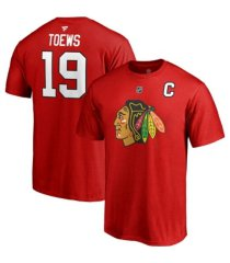 majestic chicago blackhawks jonathan toews men's authentic stack name & number t-shirt