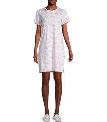 marc new york performance women's tie-dyed cotton t-shirt dress - blush - size xs