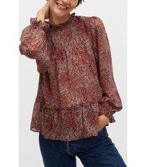 mango women's floral print blouse