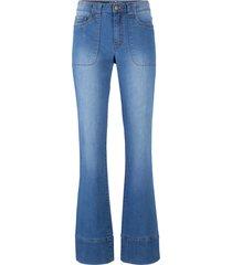 jeans elasticizzati con poliestere riciclato bootcut (blu) - john baner jeanswear