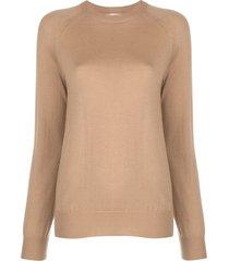 oscar de la renta raglan-sleeved sweater - neutrals