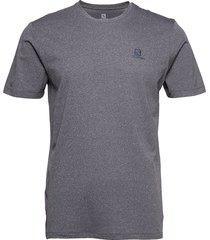 agile training tee m night sky/heather t-shirts short-sleeved grå salomon