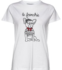 le frenchie short sleeve tee t-shirts & tops short-sleeved vit french connection