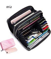 portafoglio in vera pelle per uomini e donne rfid porta carte 24 tasche multifunzione con portamonete