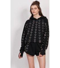 bluza 3/4 hoodie ring