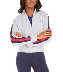 tommy hilfiger sport striped-sleeve jacket