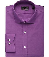 esquire non-iron raspberry slim fit dress shirt