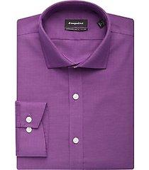 esquire non-iron raspberry slim fit dress shirt
