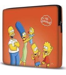 capa para notebook simpsons laranja 15.6 a 17 polegadas - amarelo - dafiti