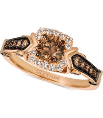 le vian chocolatier diamond ring (7/8 ct. t.w.) in 14k rose gold