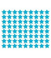 adesivo de parede estrelas azul celeste 54un