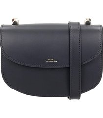 a.p.c. geneve shoulder bag in black leather