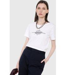 camiseta blanco-negro tommy hilfiger