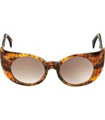 'eye-liner frame' sunglasses