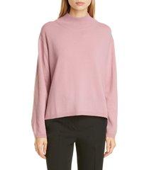 women's mansur gavriel wool & cashmere mock neck sweater, size small - pink