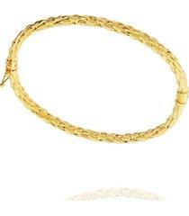 pulseira dona diva semi joias bracelete dourada