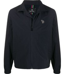 ps paul smith reflective zebra jacket - blue