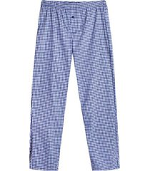 pantalon descanso cuadros color blanco, talla l