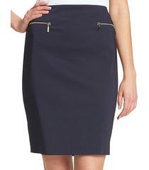 tommy hilfiger women's zip pencil skirt - midnight - size 4