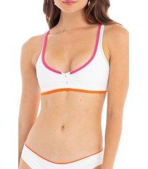 women's tavik marlowe bikini top, size x-small - white
