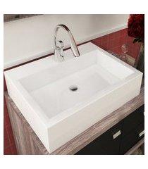 cuba de apoio para banheiro paris mármore bosi branca