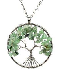 collar dije arbol de la vida piedra jade