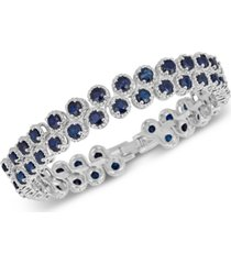 sapphire (4 ct. t.w.) & white sapphire (1 ct. t.w.) bangle bracelet in sterling silver