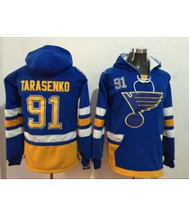 men's st. louis blues 91 vladimir tarasenko hockey pullover hoodie jersey