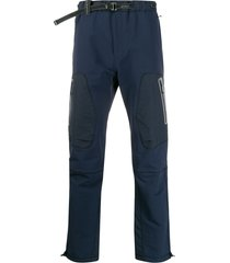 and wander belted track pants - blue