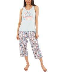 munki munki summer vibes capri pajama set