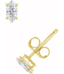certified marquise diamond stud earrings (1/2 ct. t.w.) in 14k white gold or yellow gold