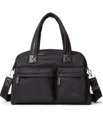 mz wallace bleecker nylon duffle bag - black