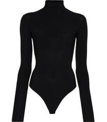 alix nyc roll neck bodysuit - black