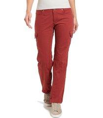 pantalones mujer splash roll-up rojo kuhl