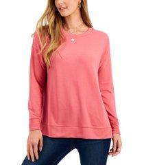 style & co petite sweatshirt, created for macy's