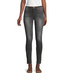 karl mid-rise ankle skinny jeans