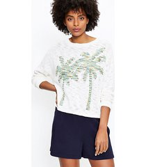 loft lou & grey palm tree sweater