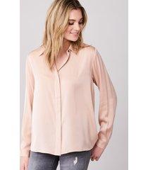 overhemdblouse van elastische zijde