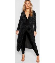 plus metallic sparkle midaxi kimono, black